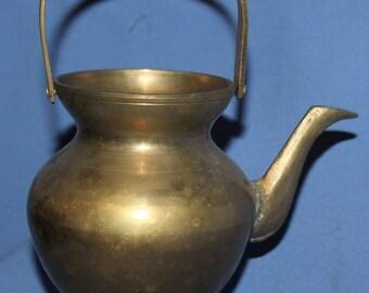 Vintage Decorative Brass Vase Kettle Shape