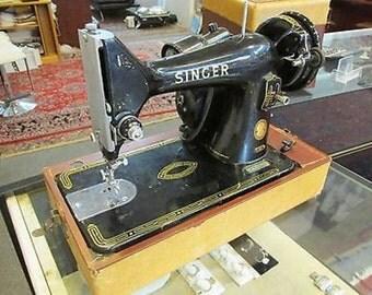 Antique Singer 99k Portable Sewing Machine Working with box EK938063 Vintage