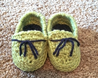 Baby Boy Loafer Booties - Made to Order