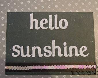 """Card """"Hello sunshine"""""""