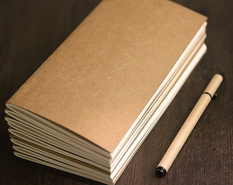 Pack of 2 Standard size notebooks /Journal refill / Blank notebooks / Kraft notebook/Black notebook/saving money C02