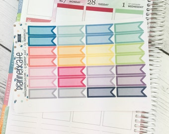 50% Off! S335 ||  FLAG Stickers (Light) for Planner (28 Removable Matte Stickers)