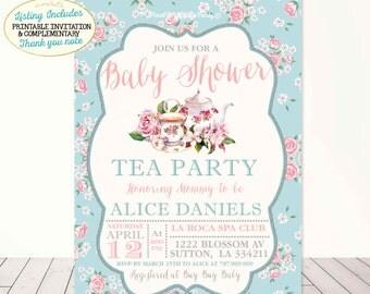 tea party baby shower  etsy, invitation samples
