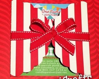 Circus Invitations / Carnival Invitations / Circus Birthday Invitations / Carnival Circus Party Invitation / Hot Pink Circus Invites Girl