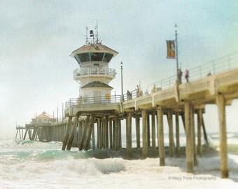 Beach Photography Print, Huntington Beach, Pier Picture, California Wall Art Print, Ocean Decor, Surf Art, Coastal Decor, 8 x 10 Print