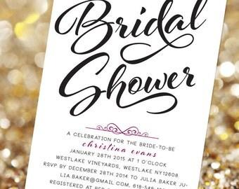 FancyPants Bridal Shower Invitation