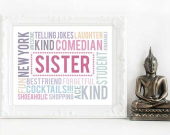 sister gift, gift for sister, sister presents, sister christmas gift, christmas gift sister, birthday sister, sister birthday, sister xmas