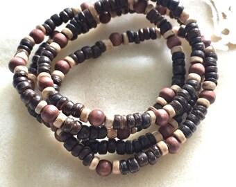 Brown Natural Coconut Wood Bracelet