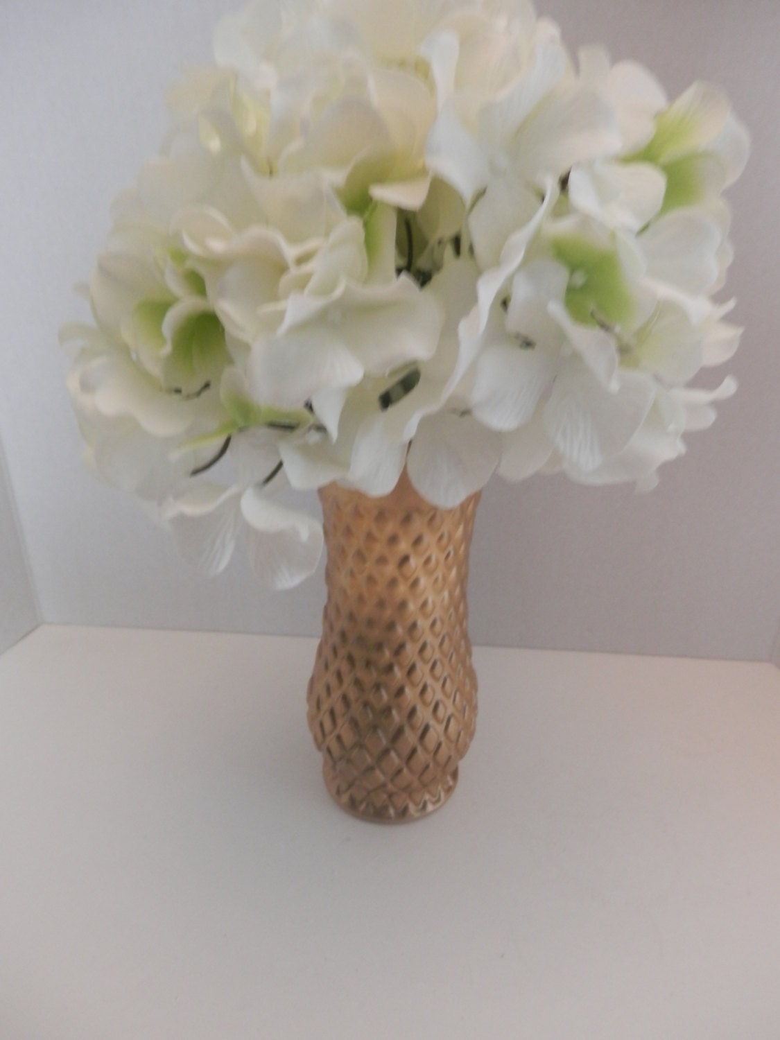 Wedding Flowers In Vases : Wedding gold flower vases decorations by