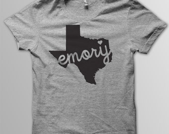 Custom TEXAS Hometown American Apparel Tri blend Tshirt
