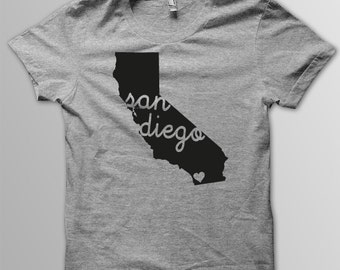 Custom CALIFORNIA Hometown American Apparel Tri blend Tshirt