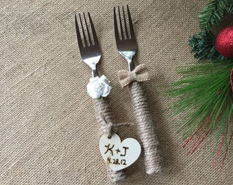 Wedding forks/ bride and groom's forks/