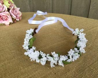 Bridal crown/ wedding crown/ wedding hair/ hair accessory/ crown for bride/ flower girl crown/ brides hair/ crown for flower girl/ rustic