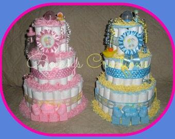 3 Tier Diaper Cakes