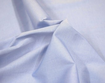 "Threadtex Blue 100% Cotton Shirting Fabric 58"" Wide Sold By The Yard"