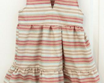 Adorable Metallic Striped Girls Dress