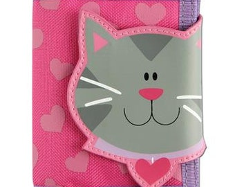 Girls Cat Wallet with Velcro Closure