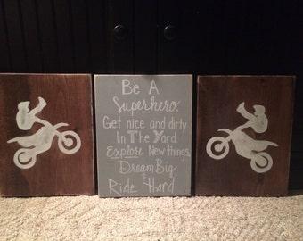 High Quality Boys Nursery Decor, Boy Bedroom Decor, Dirt Bike Decor