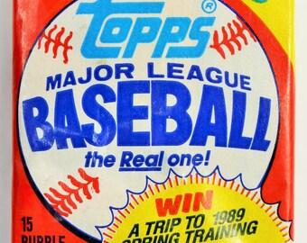 Vintage 1988 Topps Baseball Trading Cards MLB 88 Wax Pack