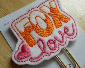 Fox Love Paper Clip