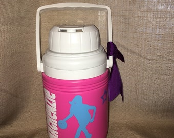 Personalized Sports Basketball Water Jug Cooler- 1.3 Quart