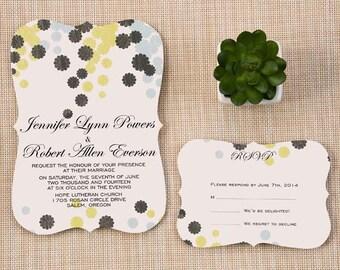Vintage Shaped Wedding Invitation