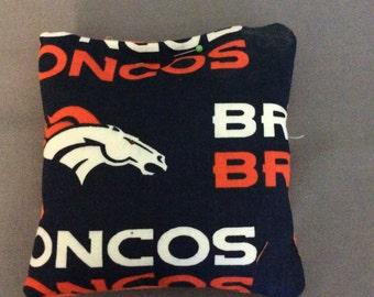 Denver Broncos Set of4 Corn Hole Bags Bean Bag Toss