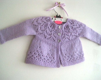 Evie Cardi - Knitting Pattern - Baby girl to age 6 cardigan - Instant Download PDF