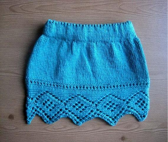 Knitting Skirt Girl : Girl s skirt knitting pattern instant download pdf