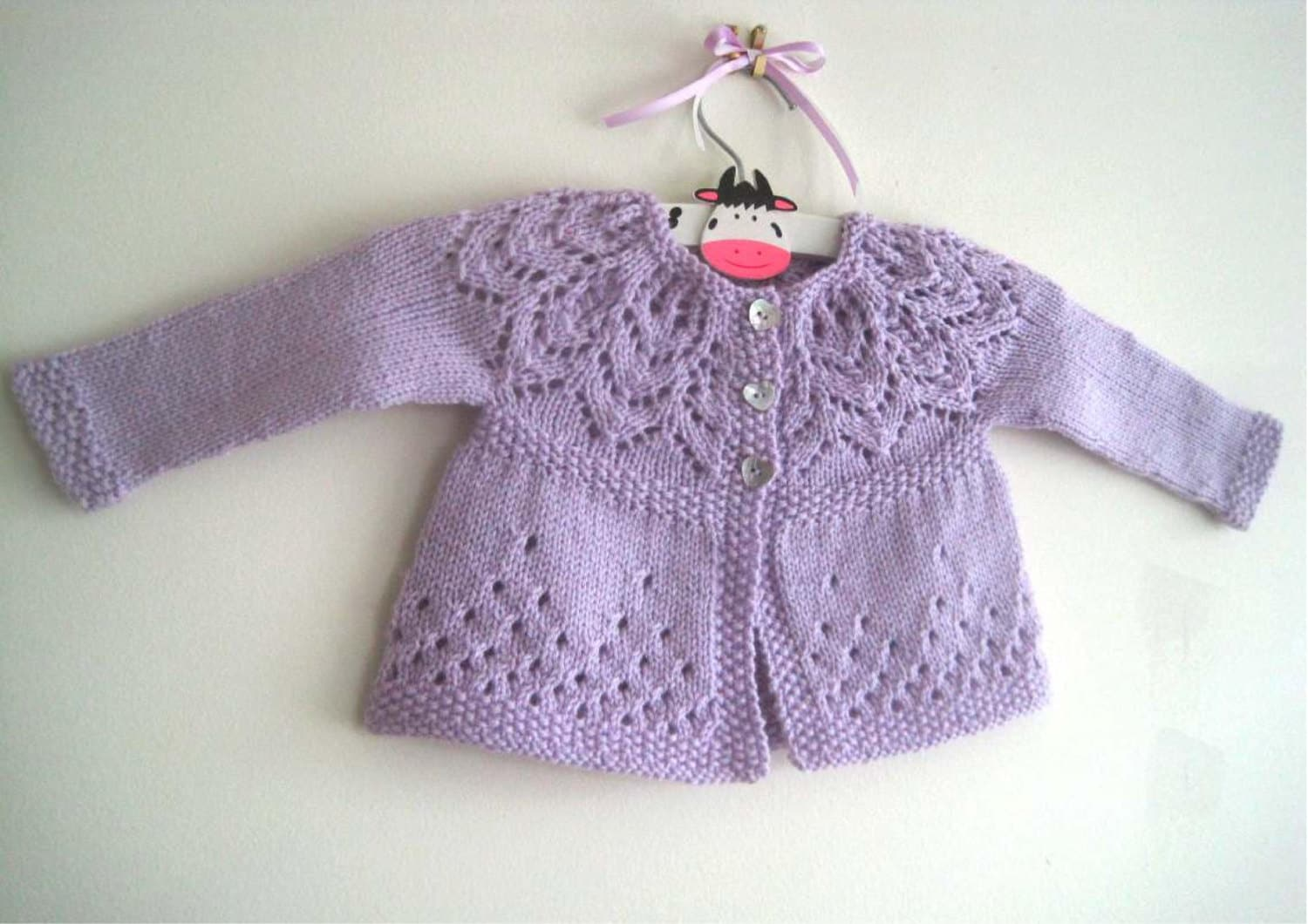 Knitting Pattern For Age : Evie Cardi Knitting Pattern Baby girl to age 6 cardigan
