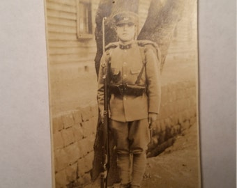WWII Photo Japanese Soldier w/Bayonet and Ammo Pouches