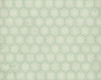 Decorative Print Green Circles