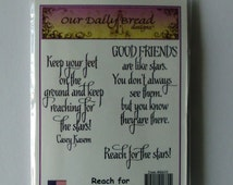 Stars Quote Stamp Set, Friendship Stamps, Our Daily Bread Designs, Reach for the Stars, Star Quote, Friend Quotes, Friends are like Stars