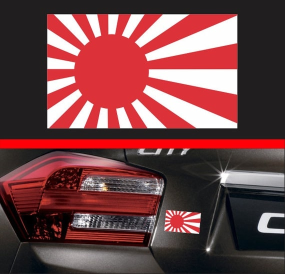 4 Japanese Rising Sun Flag Sticker Vinyl Decal Japan JDM
