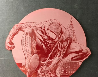 Spiderman Engraving