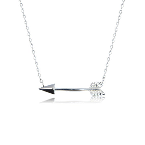 arrow necklace sterling silver BEST SELLER sorority, bridesmaid necklace also available in gold and rose gold plated sterling silver