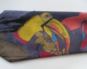 Vintage toucan bird tie