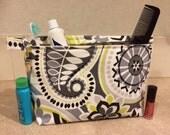 Vinyl lined Makeup bag/wet bag/travel bag or cute Clutch