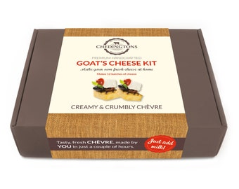 Make Your Own Goat's Cheese Kit - Authentic Chèvre - Makes 12 batches
