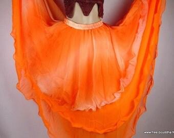 Oriental Dance SKIRT Gypsy bollywood orange gypsy jdo1