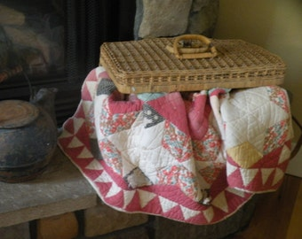 Country Shabby Chic, Primitive Star Quilt**Sale 115.00 reg. 132.00