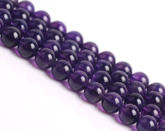 DIY Class 2A Amethyst Loose Beads  for Bracelet/Necklace Wholesale 39cm string(Bead Size: 4-10mm)-WEN35561309938-MAY