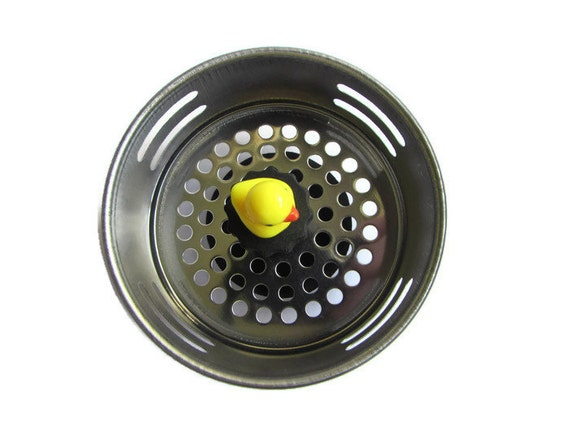 Sink strainer kitchen sink plug duck decor cute ducks - Decorative kitchen sink strainers ...
