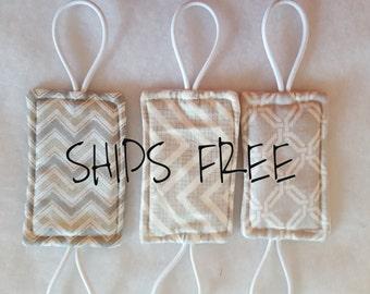 Free Shipping! - Door Jammer, Door Silencer, Door Latch Cover, Babyproofing Accessory, Nursery Decor, Door Muff, Reversible!