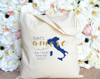 Personalized That's Amore Destination Wedding Welcome Bag + Rome, Italy