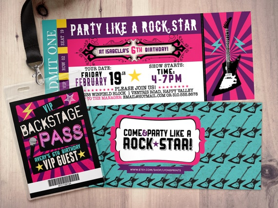 Beautiful Like This Item? Regard To Invitations That Look Like Concert Tickets