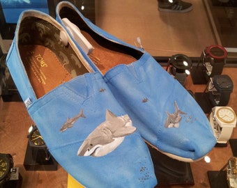 Toms Shoes Customized Sharks