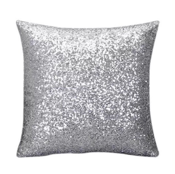 Silver Sequin Pillow Case By Crazypillowladies On Etsy