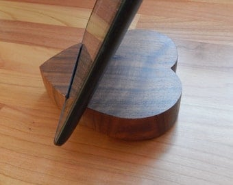 iPad Stand, Walnut, iPhone Stand, Android Tablet Stand, Handmade, Anniversary Gift, Tech Gift, Birthday Gift, Gift for Her, Gift for Men,