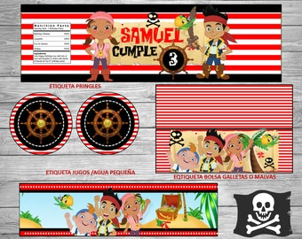 Jake And The Neverland Pirates!!!PRINTABLE PARTY SET!!!New! Customize!!!Printable